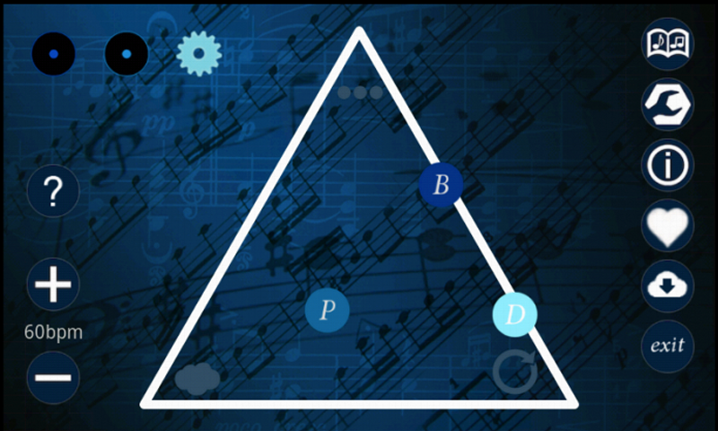 Screenshot of the Melody Triangle